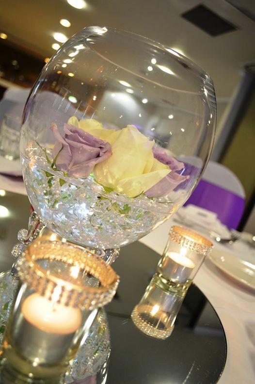Mercure Townsville - Lakes Room - Wedding Ceremony - Purple - Pretty - Elegant - Table Centrepiece