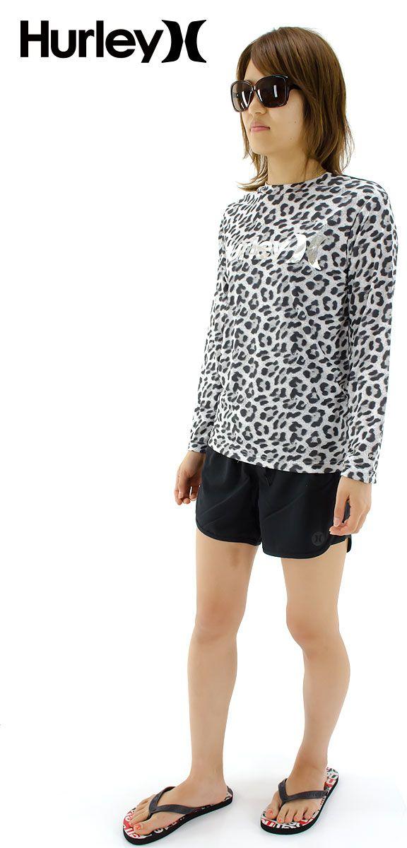 ラッシュTシャツ ハーレー UVカット ロンT シンプル 紫外線対策 レディース ラッシュガード HURLEY