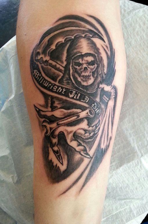 grim reaper tattoo by newgraffiti tattoo pinterest