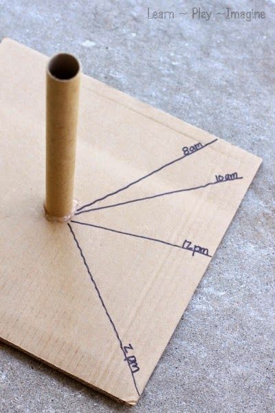 How to make a sundial - hands on activities to learn about the sun