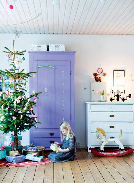 Ååh hvor jeg elsker jul <3 Sammen med malede møbler - endnu bedre. Glæder mig allerede til at være hjemme i julen næste år