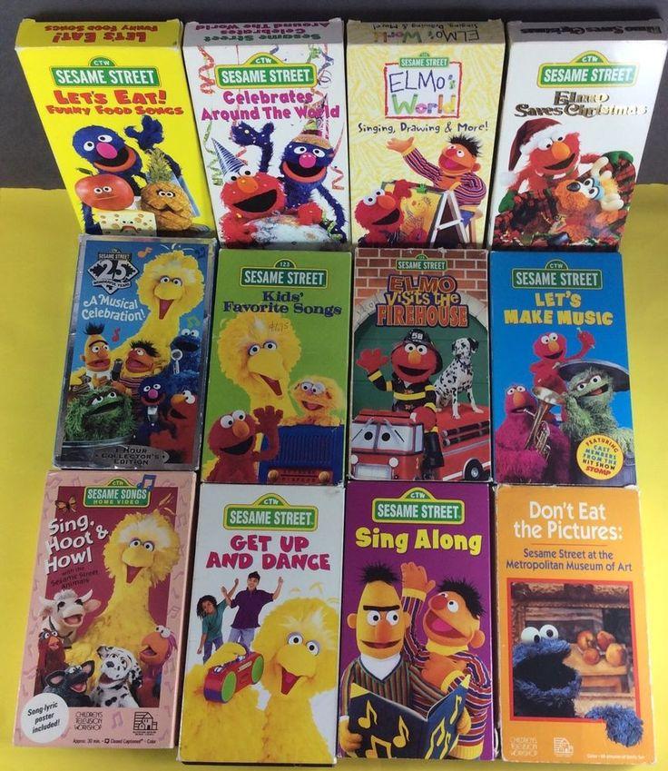 Sesame Street VHS 12 Video LOT Elmo Big Bird