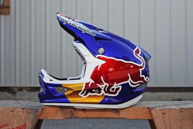 2012 Redbull Rampage Helmets for Brandon Semenuk. Troy Lee Designs D3 helmets.