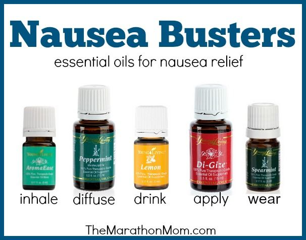 Nausea Busters:  Essential Oils for Nausea Relief | TheMarathonMom.com