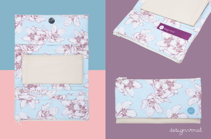 FLORA women's wallet by Designvonal available at dvshop.hu // Pattern design by Csaba Hutvágner