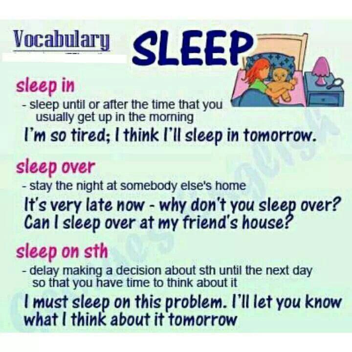 "Uses of ""sleep"" english"