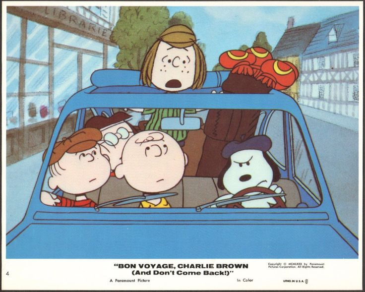 PEANUTS Charlie Brown Snoopy Bon Voyage Charlie Brown 1980 lobby card 2* by…