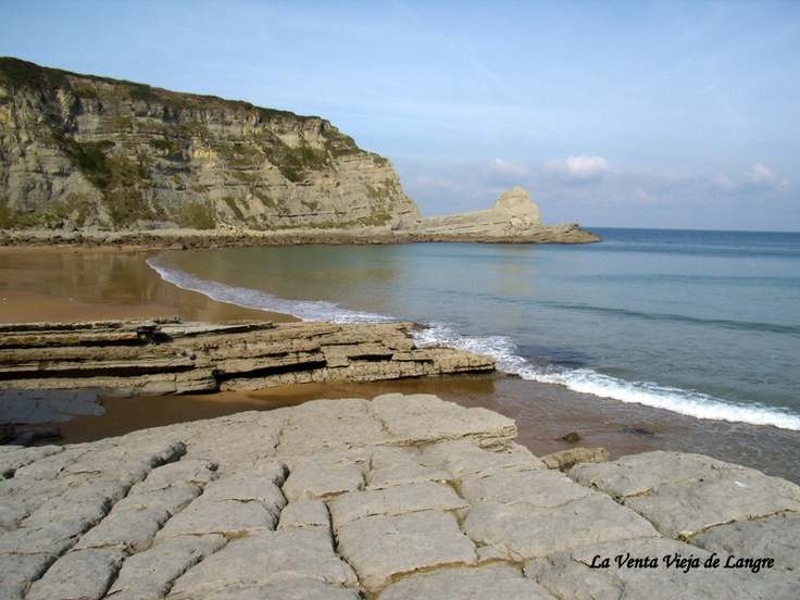 Playa pequeña de Langre