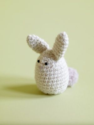 Free Crochet Pattern: Amigurumi Bunny Egg Cozy - add a creme egg inside as a hidden treat