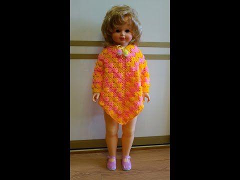 Пончо вязание крючком часть 1.   Poncho Crochet Part 1 - YouTube