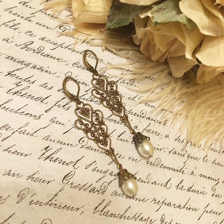 A personal favorite from my Etsy shop https://www.etsy.com/ca/listing/480564416/antique-filigree-earrings-antique