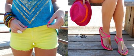 Summer Fashion Trends Neon Beach