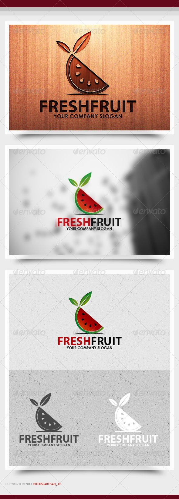 Fresh Fruit Logo Template  #GraphicRiver            FRESH FRUIT LOGO TEMPLATE  FEATURES:  - 100% RESIZABLE/SCALABLE VECTOR  - ORGANIZED GROUP/LAYERS/NAMED  - PRIMARY LOGO + BLACK  WHITE INCLUDED  - PRINT READY   FILE INCLUDED:  - AI / EPS10 / PDF    FONT USED:  - Open Sans –  .fontsquirrel /fonts/open-sans                     Created: 2November13 GraphicsFilesIncluded: VectorEPS #AIIllustrator Layered: Yes MinimumAdobeCSVersion: CS Resolution: Resizable Tags: 2013logo #2014logo #attractive…