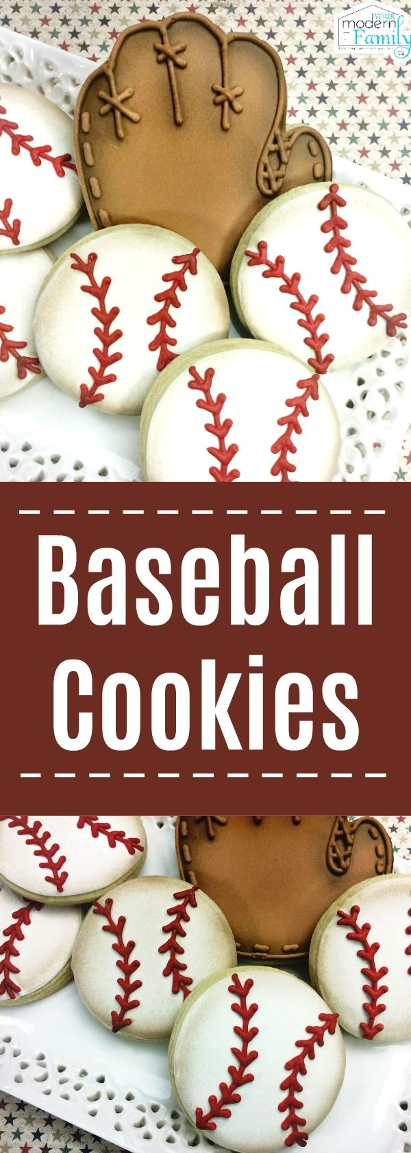 Baseball Sugar Cookies
