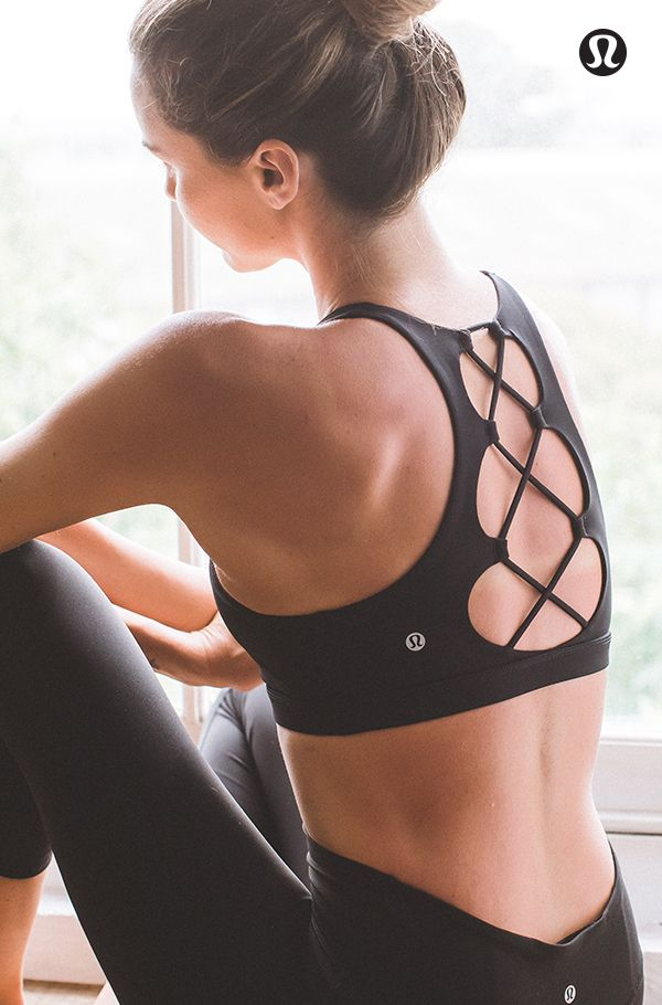 Be tied to a new practice. Featuring: Tied To It Bra.