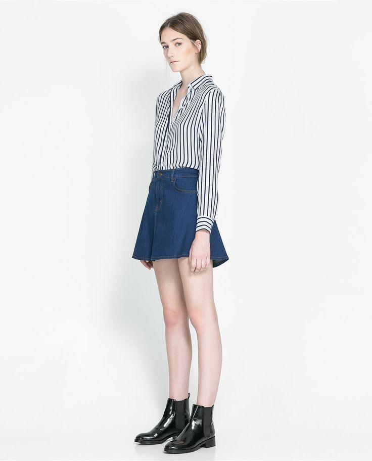 26 best images about Denim Skater Skirt Outfits on Pinterest   Midi skater skirt Grunge style ...