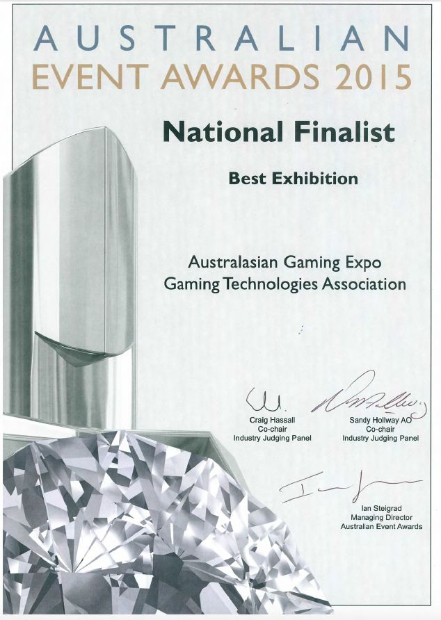 Australian Event Awards 2015 - National Finalist - Best Exhibition Category