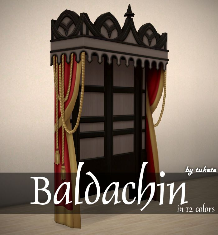 Baldachin     Suggested by Veronica   My mesh edit  Custom icon thumbnail  Standalone  12 swatches     Vampires GP   required!    Cho...