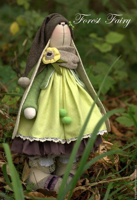 Купить Зайка Лесная Фея ( Forest Fairy ) - текстильная игрушка, 38 см