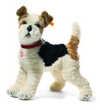 STEIFF Mohair Foxy Fox Terrier Brand New in Free Steiff Gift Box EAN 031717
