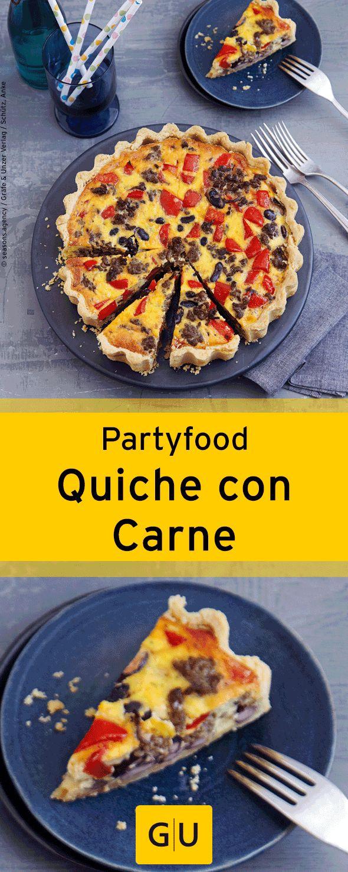 """Fingerfood für die Silvesterparty: Rezept für leckere Quiche con Carne. Ihr findet es in der Leseprobe zum Buch """"Partyrezepte"""".⎜GU"""