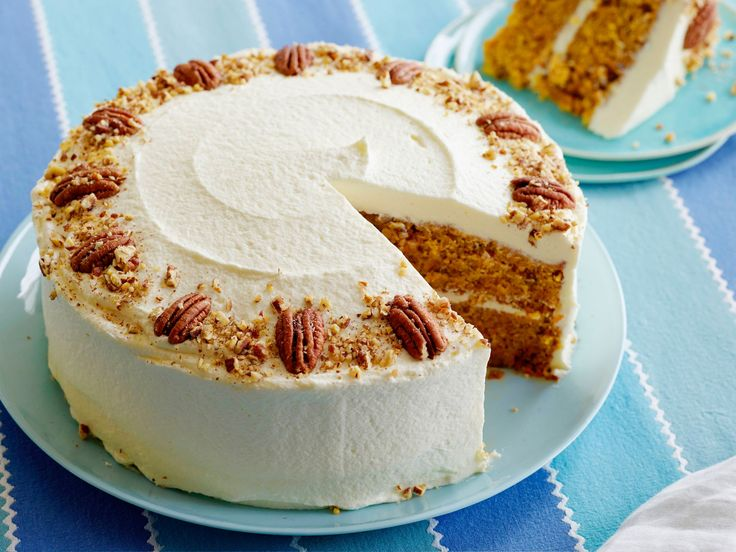Carrot Cake with Cream Cheese Frosting recipe from Food Network Kitchen via Food Network