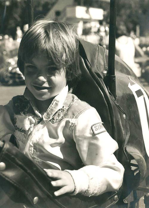 Jeff Gordon started racing early on, obvious from this photo from his home page! Late Fall, 1977