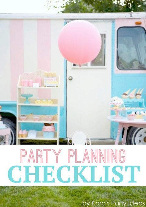 Best Party Checklists Images On   Party Planners