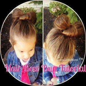 How to Make A Hair Bow Bun {Video Tutorial} so cute deff gonna try this in my princess hair.