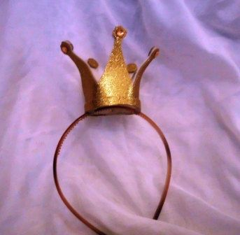 Gold Crown, Queen of Hearts, Mini, Tiny, Sparkle, Princess, Headband, Burlesque, Princess Peach, Child, Kid, Adult
