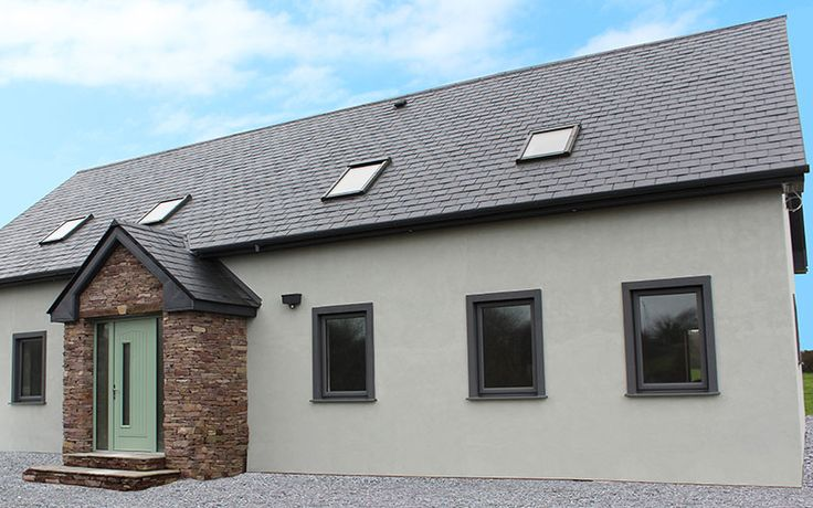 Beautiful PVC Windows in Basalt grey from Costello Windows, Glin, Co. Limerick. Costello Windows is the only major window provider to supply windows in the lighter Basalt grey rather than the darker Anthracite Grey. Basalt grey is now becoming very popular.