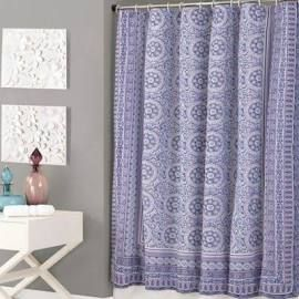 Jessica Simpson Mosaic Shower Curtain In Purple