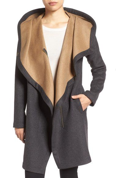 Vince Camuto Double Face Hooded Drape Coat available at #Nordstrom