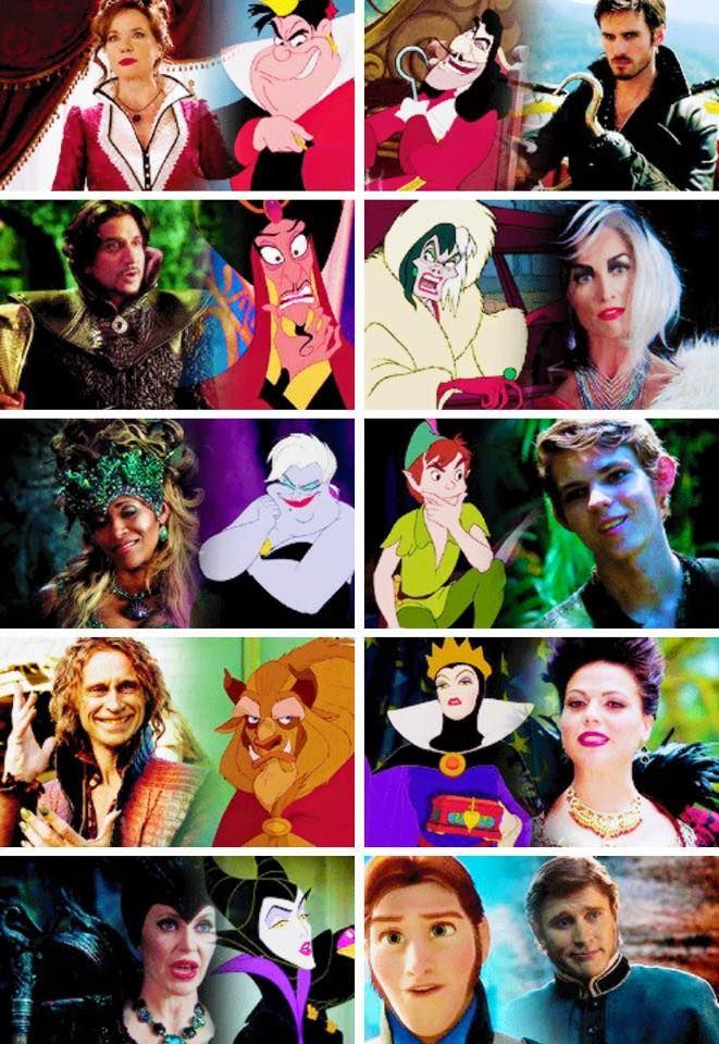 ONCE UPON A TIME Villains | I laughed so hard when I saw Cora's cartoon DISNEY character