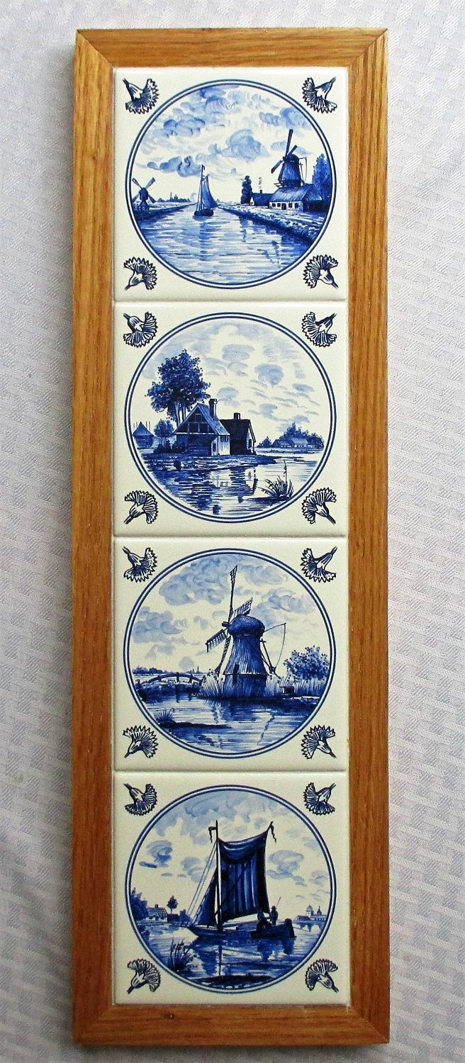 Decorative Tiles For Wall Art Blue Delft Traditional Blue Delft Tile Wall Decor Wall Hanging