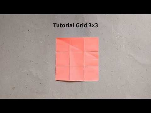 Origami Harri Hadi: Tutorial Grid 3×3
