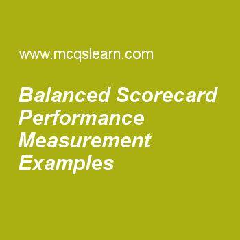 Balanced Scorecard Performance Measurement Examples