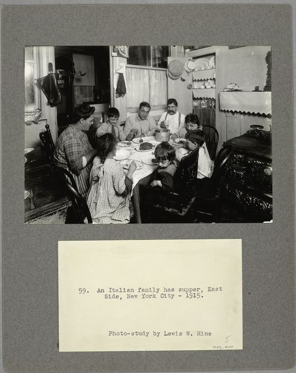 An Italian Family Has Supper East Side New York City 1915