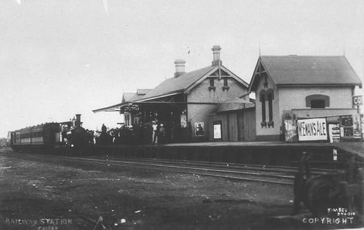 Cobar Railway Station in New South Wales (year unknown).