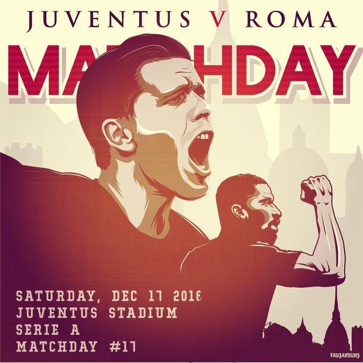 #MatchDay... Sieti carichi❓ Taggate tre amici che tiferanno #Roma questa sera! #DajeRoma❗️ *** Tag 3 friends who will be supporting #ASRoma against #Juventus tonight! #ForzaRoma  *** #Follow @officialasroma on Instagram *** #JuveRoma #ASRoma #Juventus #juve #serieatim #giallorossi #trasferta #infographic #szczesny #ruediger #rudiger #filter