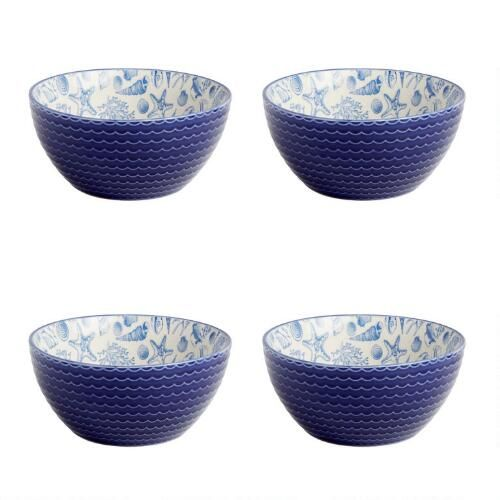 One of my favorite discoveries at ChristmasTreeShops.com: Coastal Seashell Bowls, Set of 4