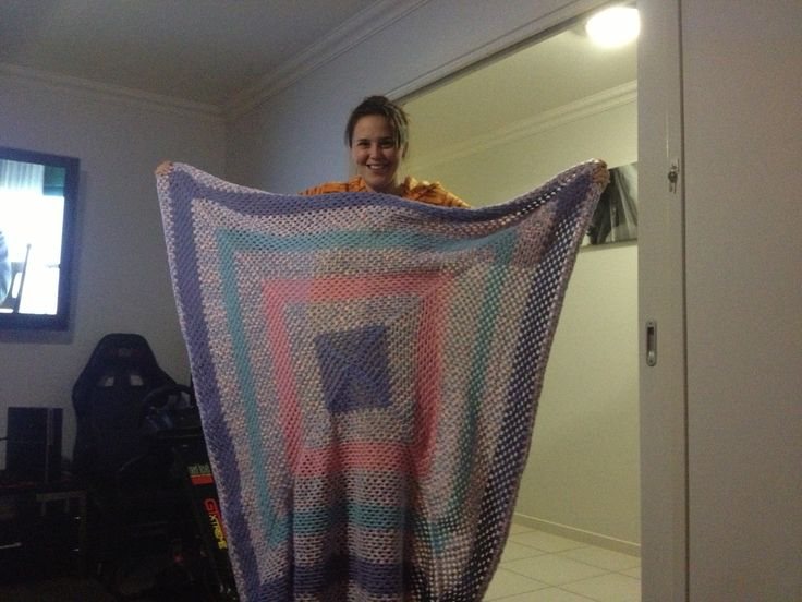 First crochet'd baby blanket!