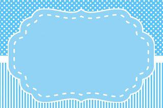 Montando minha festa: Fundo Azul Poá e Listras
