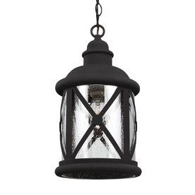 Sea Gull Lighting Lakeview 15 25 In Black Outdoor Pendant Light 622140