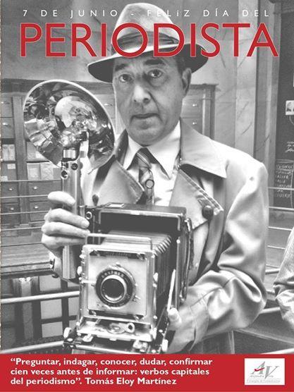 Afiche por el Dia del Periodista, para Alejandra Vera Estrategias de Comunicación.