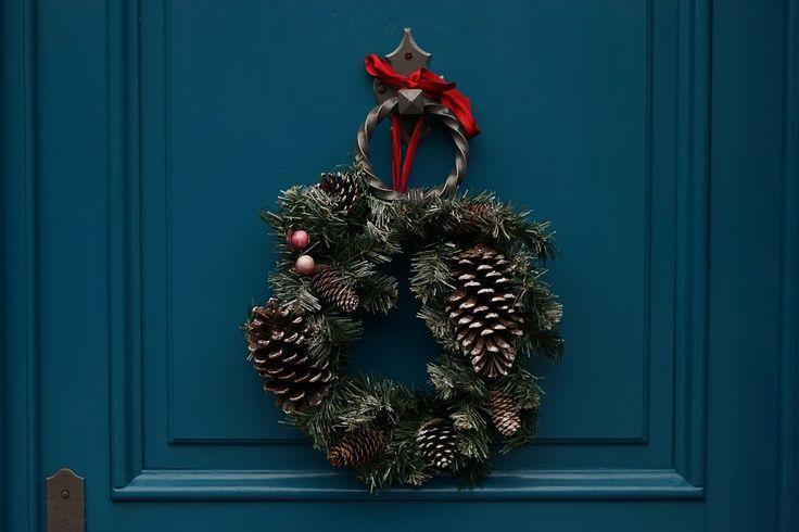 Świąteczny wianek na drzwi  inspiracje