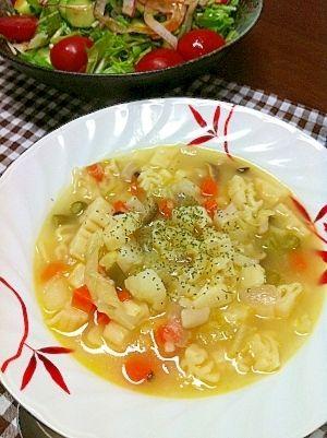 大根とベーコンのマカロニスープ レシピ・作り方 by mocamoca**|楽天 ... 野菜たっぷりマカロニスープ
