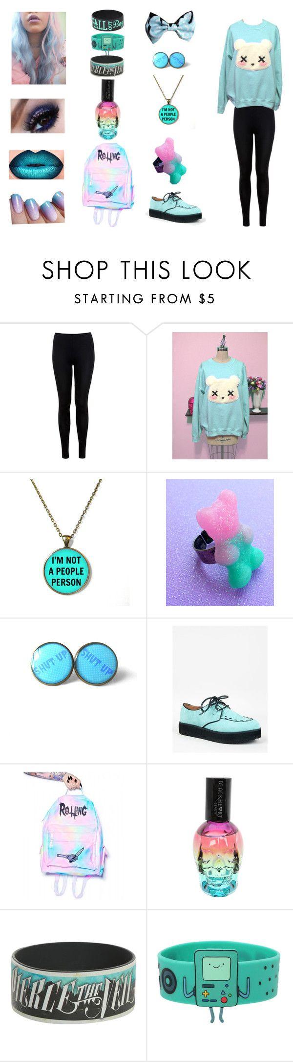 """Pastel Goth Outfit 2"" by bringmetheblackveilsirens ❤ liked on Polyvore featuring moda, Miss Selfridge, Qupid, Rotting Fresh, goth, pastel, pastelgoth, piercetheveil y falloutboy"