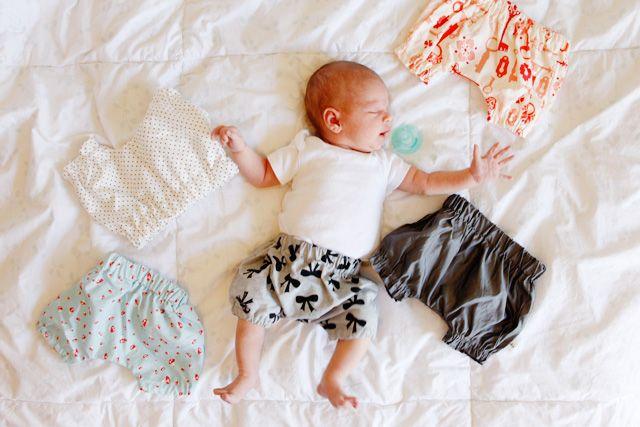 Babyhose Schnittmuster und englische Anleitung