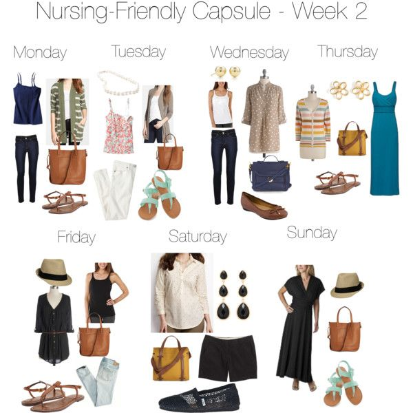 f30d07fd1c4fe Nursing-Friendly Capsule Wardrobe - Week 2 - Polyvore | BF outfit  inspirations in 2019 | Capsule wardrobe mom, Mom wardrobe, Capsule wardrobe